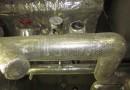 配管保温材交換前③(空調機冷水配管)