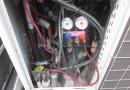 室外機冷媒ガス圧測定